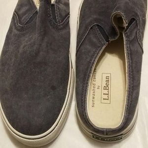 LL Bean Sunwashed Canvas Mules